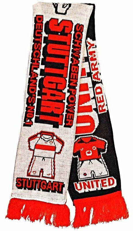 United v Stuttgart Half Half Friendship Knitted Scarf