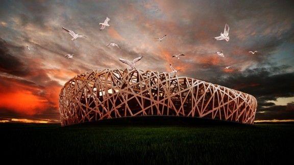 Pekin Ulusal Stadyumu #wallpaper #pekin #stad #soyut #abstract