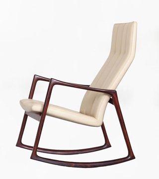 Niels Roth Andersen Rosewood Rocking Chair By Helge Vestergaard Jensen