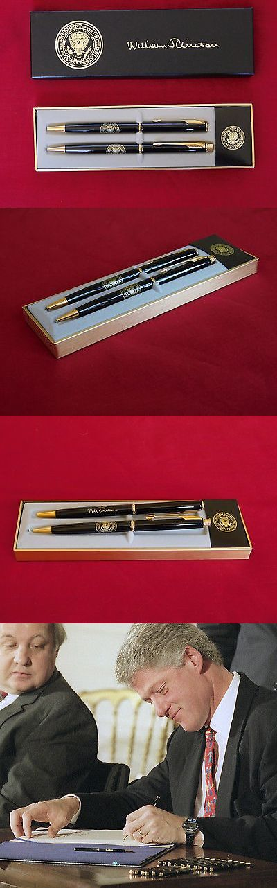 Bill Clinton: Bill Clinton Presidential Seal White House Vip Gift Pen And Pencil By Parker Usa -> BUY IT NOW ONLY: $395 on eBay!