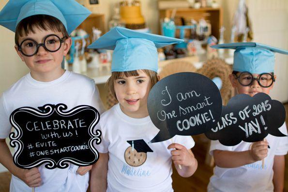 You're One Smart Cookie Preschool Graduation Party!  @Evite #EviteParty #ETTP2015