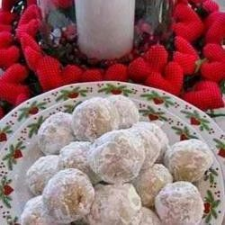 ... recipe for snowball meltaways aka snowballs aka Mexican wedding cakes