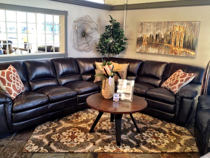 Need a cuddle? Cozy up with the Kona Leather Sectional!