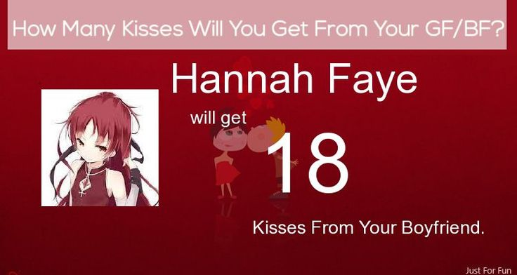 Check my results of How Many Kisses Will You Get From Your GF/BF Facebook Fun App by clicking Visit Site button