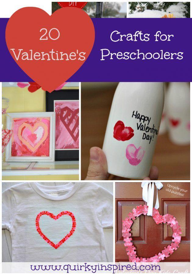 20 Valentine S Day Crafts For Preschoolers Valentine Crafts And Craft