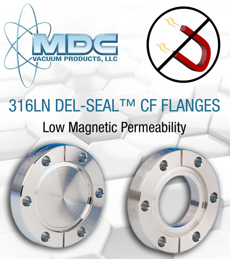 MDC is now offering our Del-Seal CF Flanges in 316LN stainless steel to our customers in the United Sates! 316LN stainless steel is an austenitic type of steel with very low magnetic permeability and superior corrosion resistance. These flanges are rated for temperatures up to 450 °C and come in non-rotatable and rotatable options. MDC is here for all your vacuum and vacuum accessory needs.