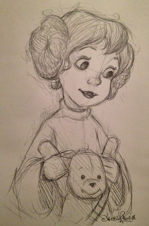 Penny from The Rescuers as Leia, James Hance, His talent and creative heart brings warmth and happiness to many. So go Look up his art work....