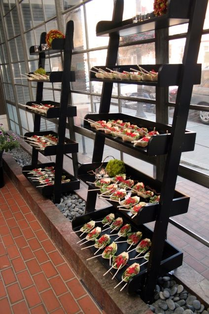 Blog culinary crafts love these shelves party for Canape display stands