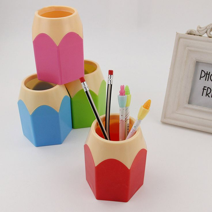 Popular Creative Pen Vase Pencil holder Makeup Brush Holder Stationery Desk Tidy New Design Container Gift