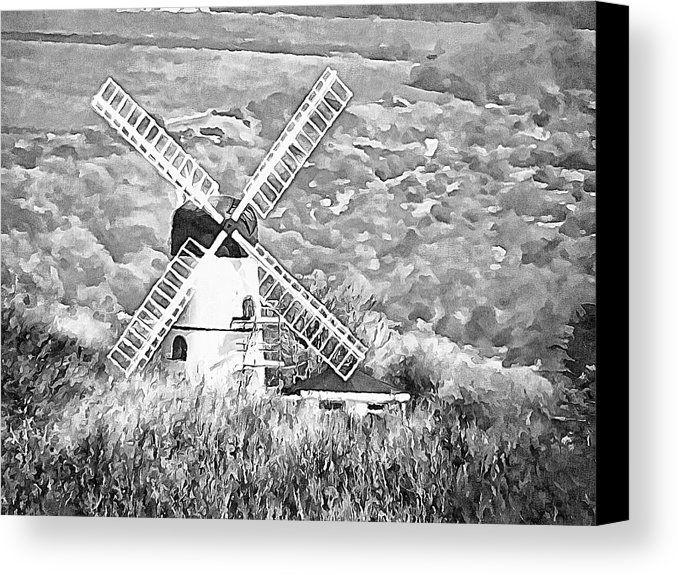 Westdene Mill Patcham by Dorothy Berry-Lound. Westdene Mill has been a private residence since 1963 but it was a working mill up until 1924 and was the last windmill to be built in Sussex, England. #printsforsale