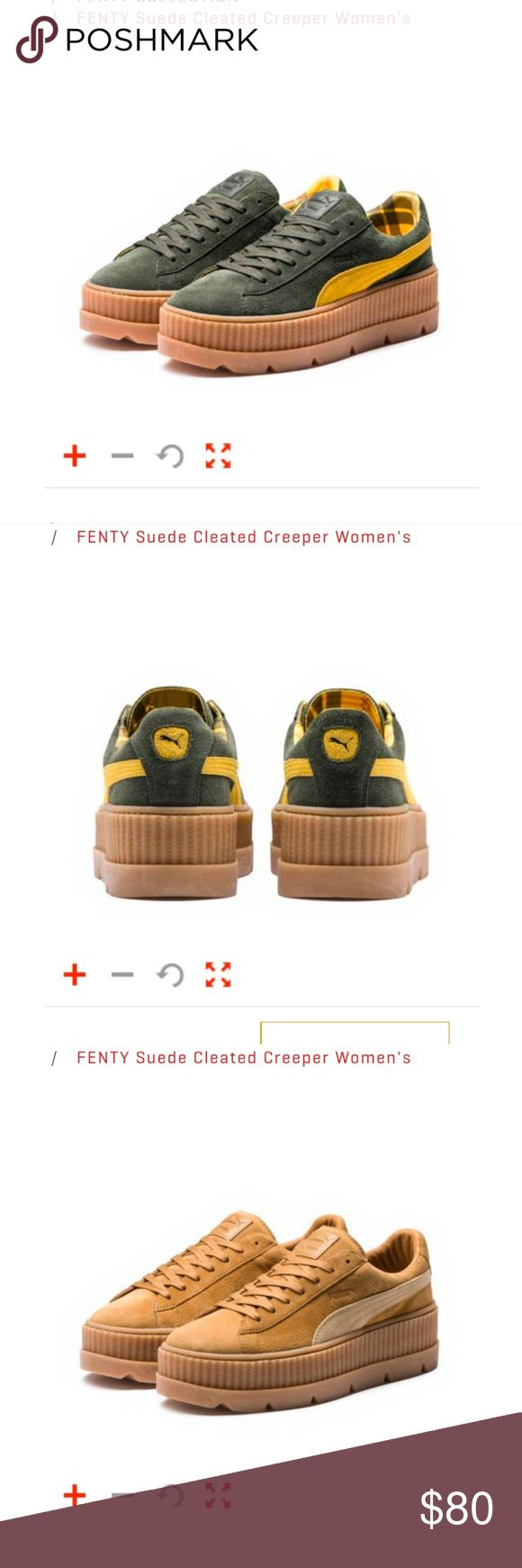 Puma Fenty Suede Cleated Creeper -New With Tag -Hundred Percent Authentic, buying directly from Puma private sale -Comment below the color you want and size and I will let you know if available  -I also have other fenty products as well. Comment so I can check. Puma Shoes Sneakers