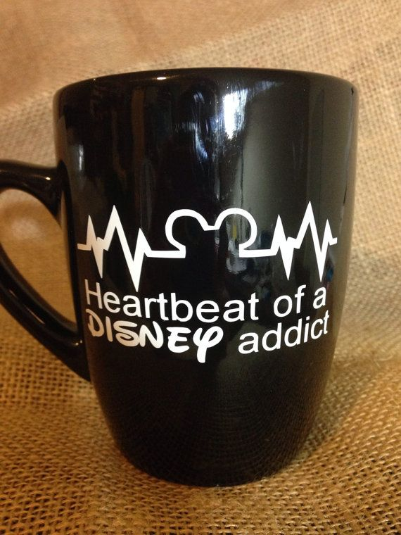 This 12 oz, black custom coffee mug, comes decorated with premium professional grade, high durability vinyl.    As with all handmade items,