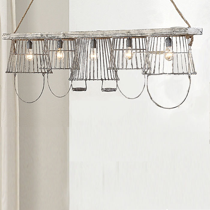 Best 25+ Wire Basket Chandelier Ideas On Pinterest