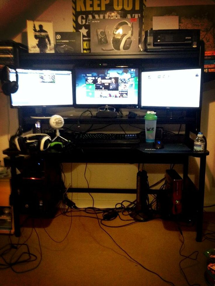 Man Cave Ideas For Xbox One : Gaming setup dylan s room pinterest