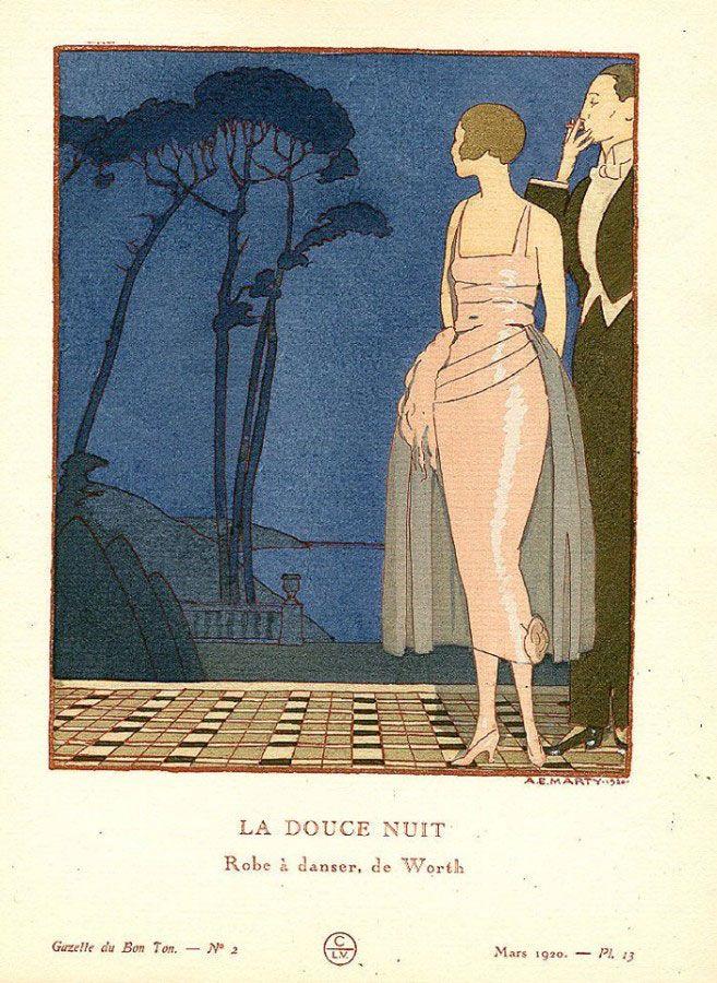 Andre Edouard Marty - La douce nuit - Robe à danser de Worth - 1920