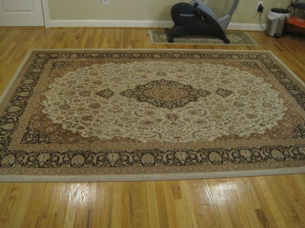 Classic area rug (8 feet by 11 feet) w/ anti slip mat