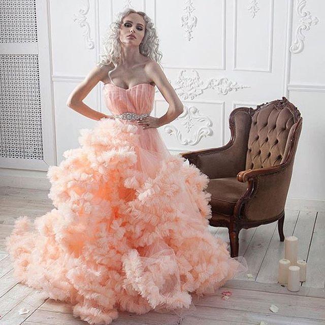 Персиковое платье облако прокат❤️❤️❤️2500 на фотосессию,4000 на мероприятие#прокат#прокатплатья#прокатмосква