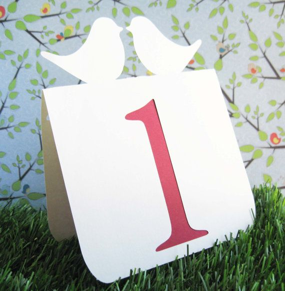 For Scarlett: Table Numbers