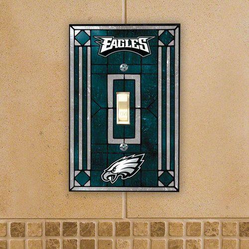 Philadelphia Eagles Art Glass Lightswitch Cover Shops