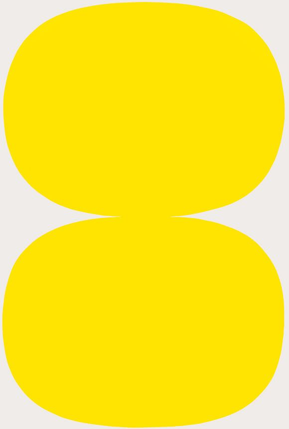 Elsworth Kelly - Yellow White, 1961. Kelly's work is very intriguing to me. These two obviously hand drawn forms seem to put pressure on one another and play with movement. They seem completely identical but are they?