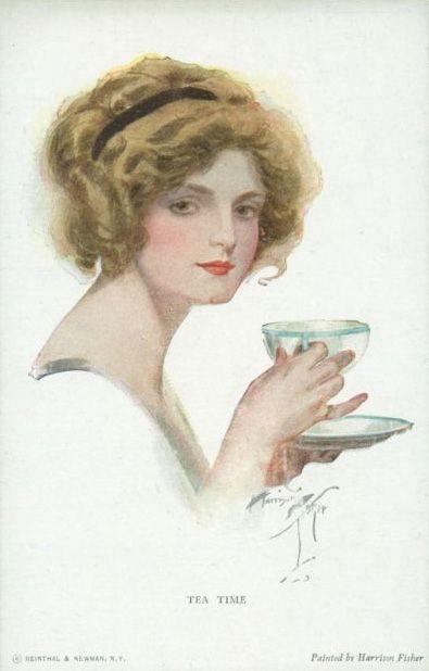 40 - Un clásico afiche del té de Harrison Fisher
