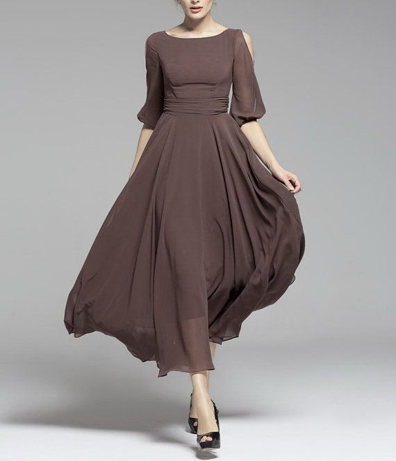 Spring Summer Chiffon Dress Lady Women Clothing Gown Dress / Fast Shipping - BSG187 on Etsy, $91.05 CAD