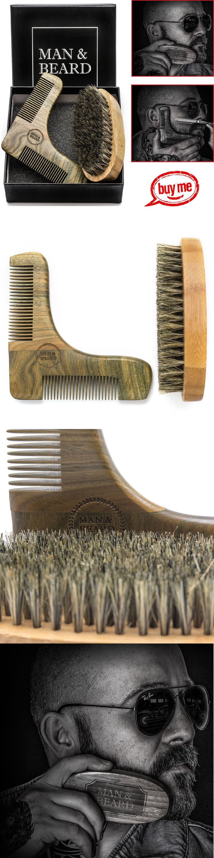 Brushes and Combs: Beard Brush Boar Bristles Mustache Wood Comb Handmade Grooming Kit Men Care Set -> BUY IT NOW ONLY: $59.97 on eBay!