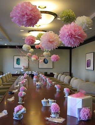 Garden Tea Baby Shower: ~ This Classy Office Celebration Was Shared With Us  By Jill