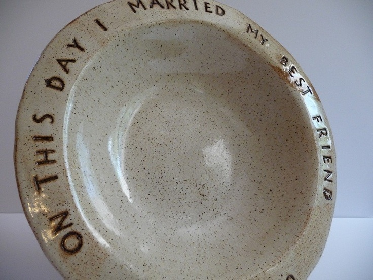 custom dated wedding anniversary serving dish great