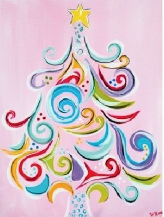 Oh Christmas Tree @The Jackson Two: Sips N Strokes - Christmas Edition