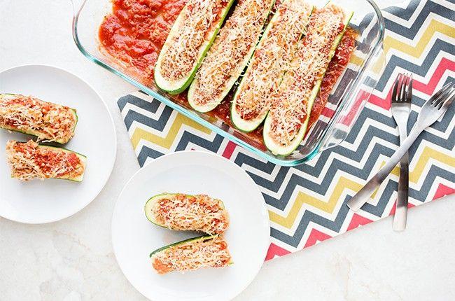Skinny Sausage Zucchini Boats