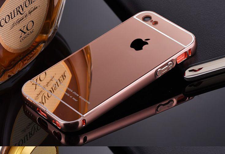 Pour Apple iPhone 5C iphone5C luxe armure or cadre en aluminium + miroir acrylique cas de retour de couverture éblouissant placage dans Sacs et Etuis pour Téléphone de Téléphones et télécommunications sur AliExpress.com | Alibaba Group