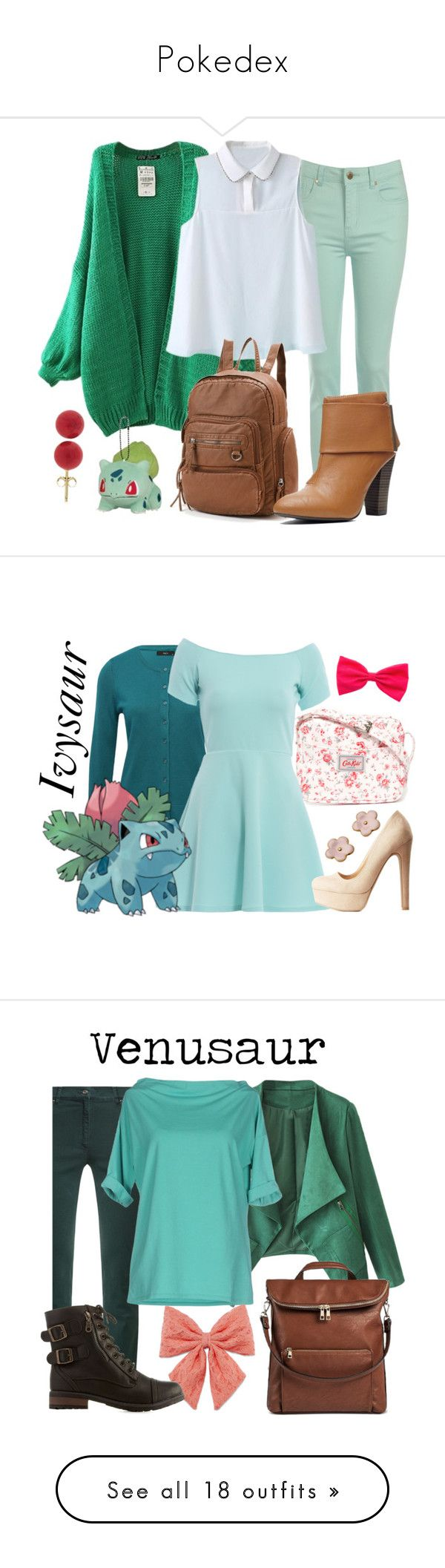 """Pokedex"" by waywardfandoms ❤ liked on Polyvore featuring Jane Norman, Mudd, Pori, Pokemon, Cath Kidston, M&Co, AX Paris, Charlotte Russe, Zerres and WithChic"