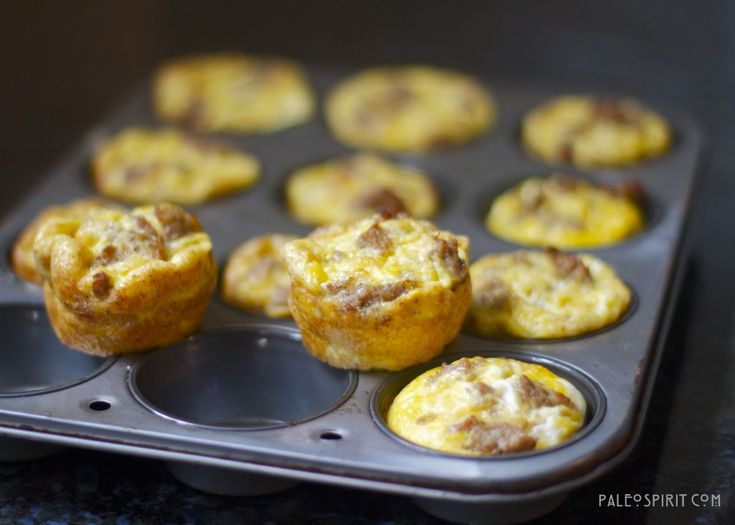 basic paleo egg muffins - egg, meat and veggies of choice. make in big batches with a muffin pan and refrigerate for the week!