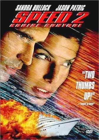 SPEED. Máxima velocidad 2. Película de acción estrenada el 13 de junio de 1997 en Estados Unidos, el 18 de julio del mismo año en España, el 14 de agosto del mismo año en Argentina y México. Protagonizada por Sandra Bullock, Jason Patric y Willem Dafoe. Secuela de Speed (1994).