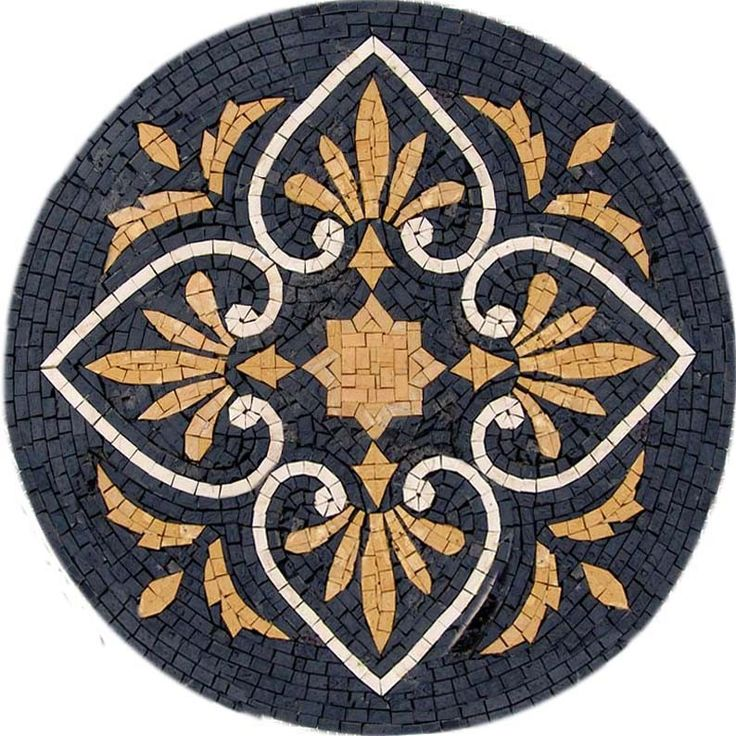 Gold and Black Castelle Wall Tile Mosaic