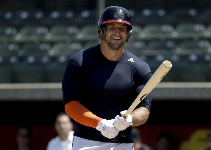 No matter what you think about Tim Tebow's prospects of a career in professional baseball, give him this much: He proved Tuesday that he can hit a batting practice fastball a long distance.