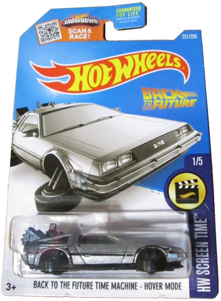 Hot Wheels Back To The Future Time Machine Hover Mode NIB 221/250 NIP HW Screen Time 1/5