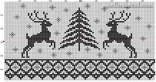 A folky stitching pattern for the holidays - click through for the free PDF printable