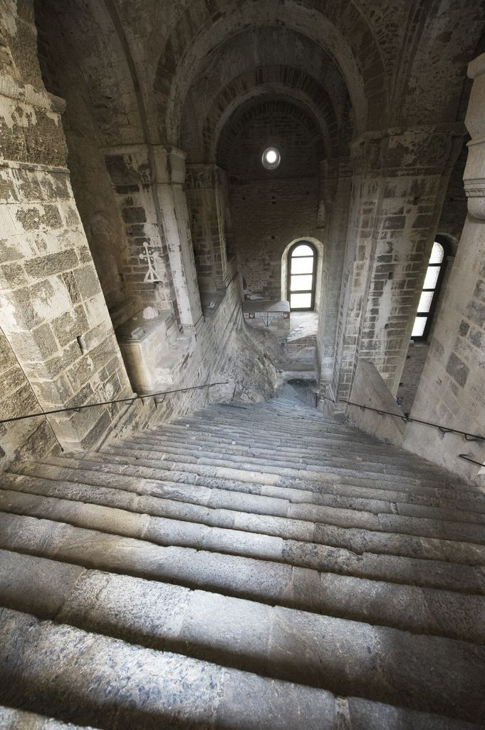 speciesbarocus:  Sacra di San Michele:Grand staircase of the dead.  By Elisewin de Carewall.