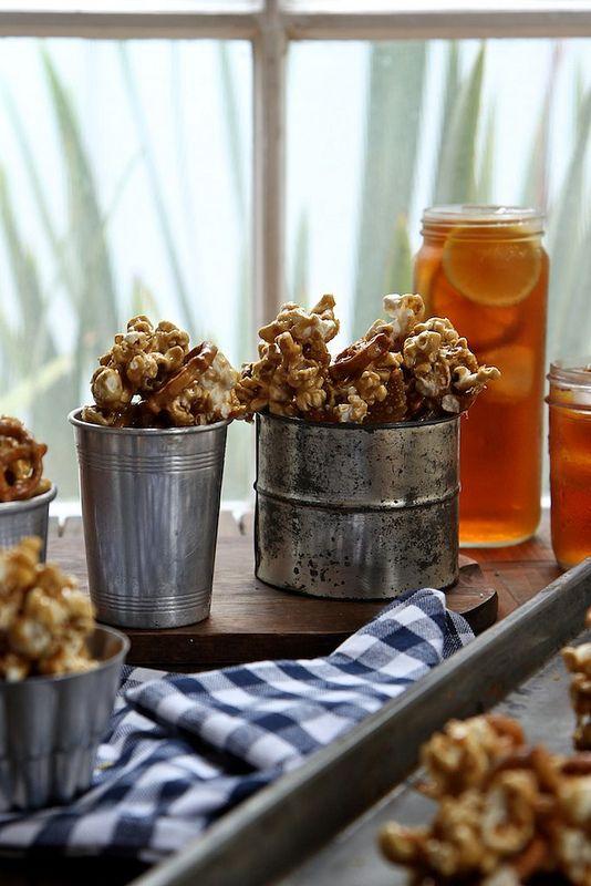 Baking A Difference with Salty Pretzel Vanilla Caramel Corn | Joy the Baker