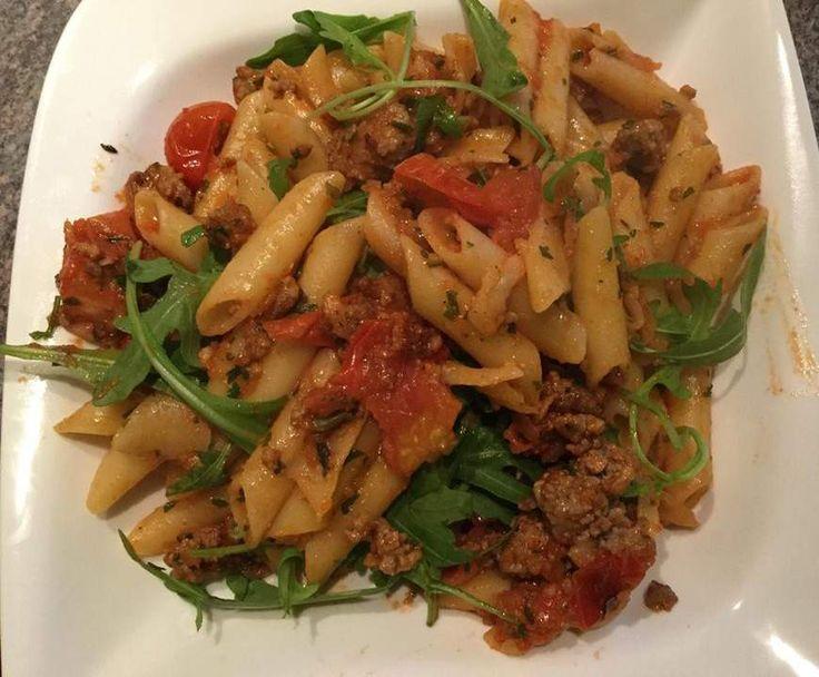 Rezept Penne Italia von ute1108 - Rezept der Kategorie Hauptgerichte mit Fleisch