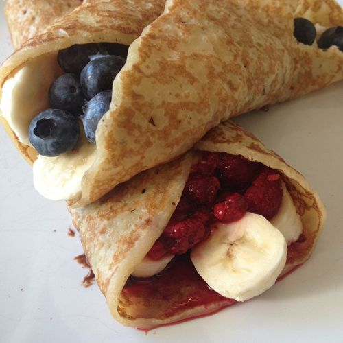 #PancakeDay at the Create office - we chose savoury as well as sweet this year, how about you? #Pancake #Blueberry #Banana #Raspberry #ShroveTuesday