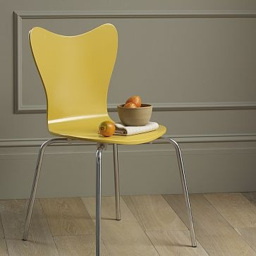 West Elm Turmeric coloured chair $79 I love the wall and floor colours when matched with this lovely yellow.