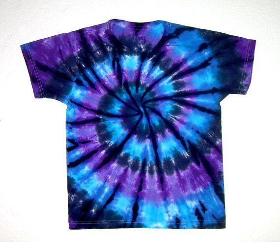Child Size/ Tie Dye Shirt/ Moon Shadow Spiral by TieDyeBySandy
