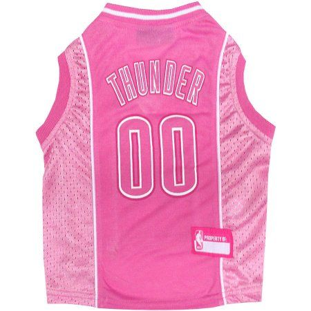 Pets First NBA Oklahoma Thunder Pet Pink Jersey, 4 Sizes Available