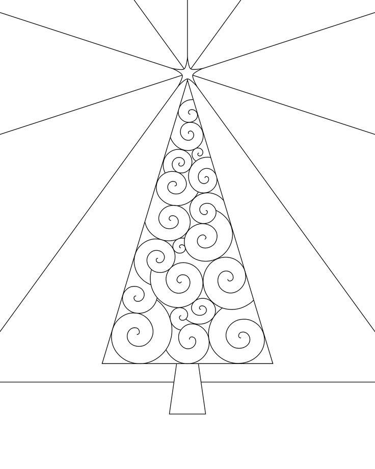 Christmas Tree Coloring Page Printable   Coloring Page