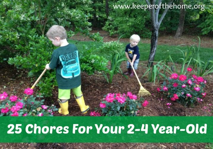 25 Chores Your 2-4 Year-Old Should Be Doing (And How To Get Him/Her To Work) - Keeper of the Home