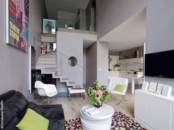 Интерьер двухуровневой квартиры в Париже 135 m2 - Дизайн интерьеров | Идеи вашего дома | Lodgers