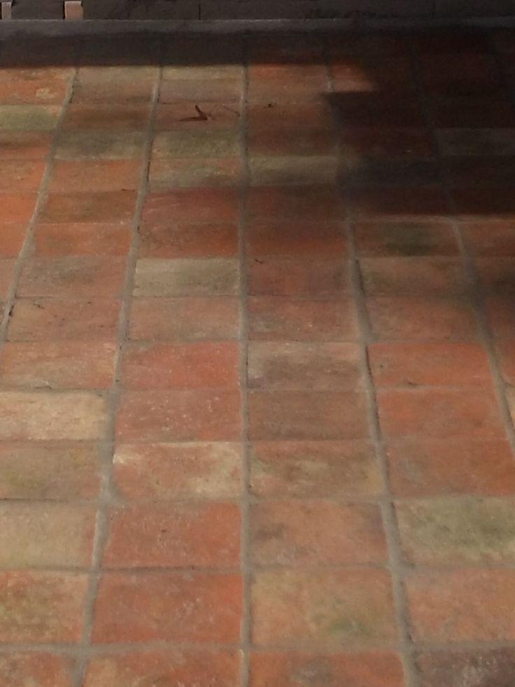 De vloer van oude estrikken interieur boerderij pinterest van - Moderne betegelde vloer ...